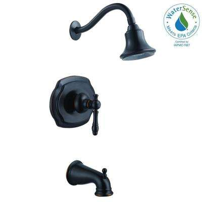 Lyndhurst WaterSense Single-Handle 1-Spray Tub and Shower Faucet in Mediterranean Bronze (Valve Included)