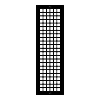 Square Series 24 in. x 6 in. Steel Grille, Black with Mounting Holes