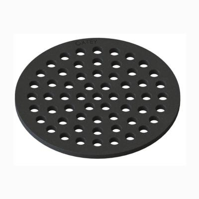 Round 6-7/8 in. Black Cast Iron Floor Drain Cover