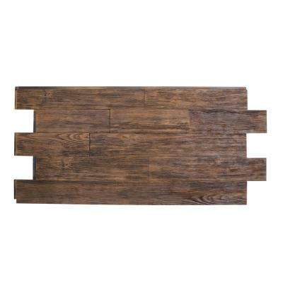 Raised Grain Faux Transitional Panel 1-1/4 in. x 48 in. x 23 in. Coffee Bean Polyurethane Interlocking Panel