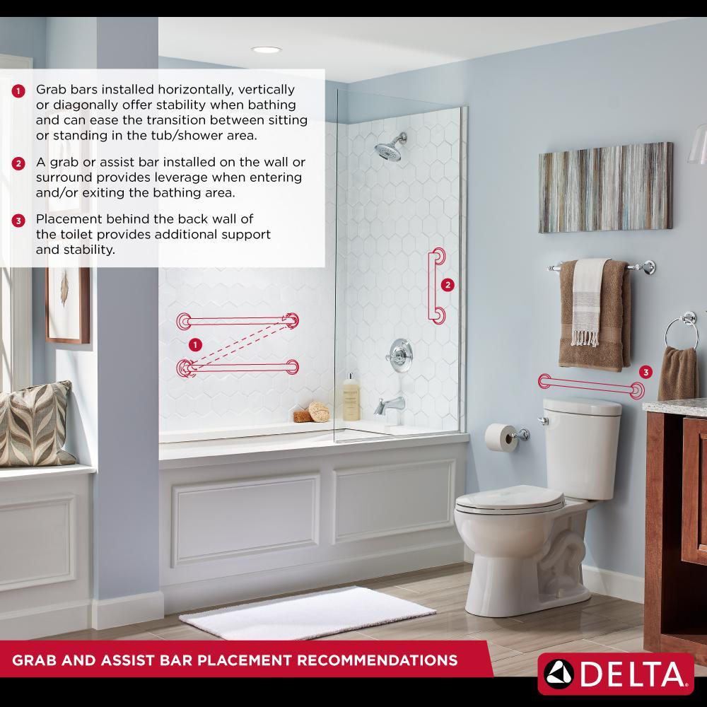 Generic Delta Corner Shelf With Towel Bar