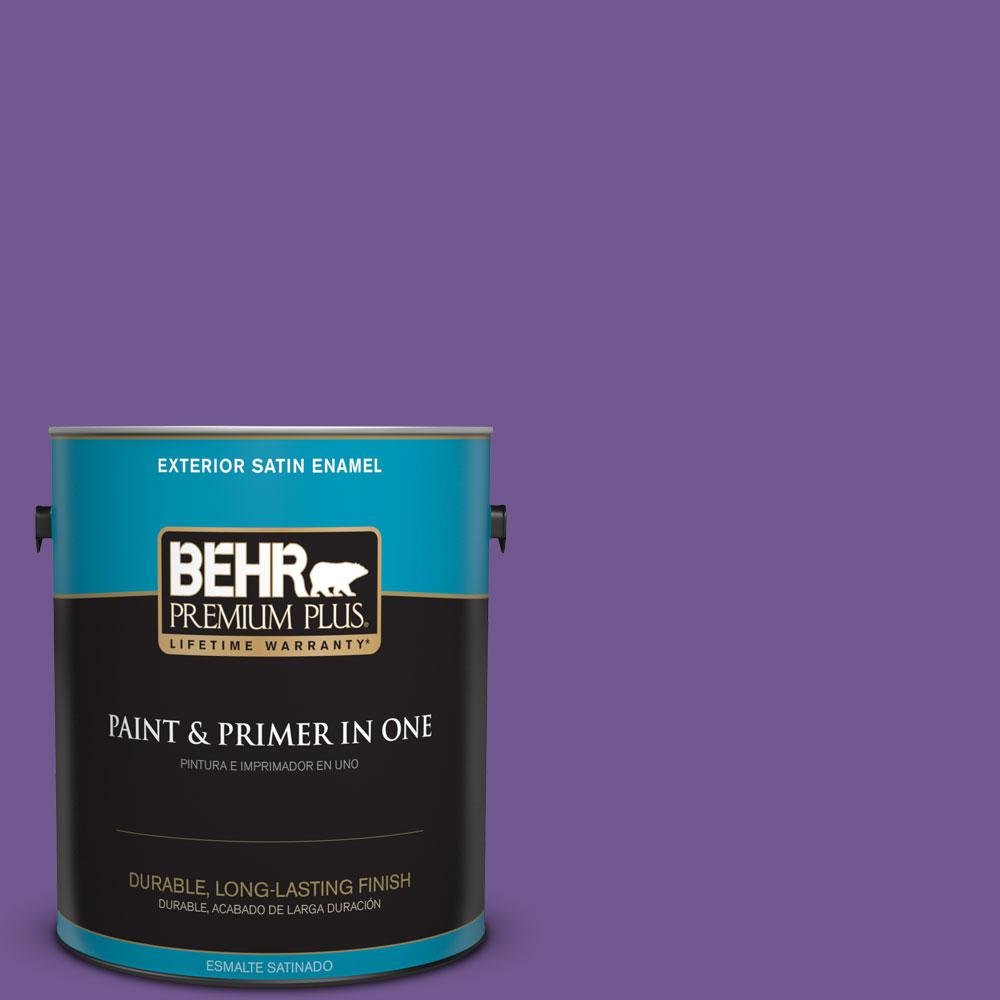 BEHR Premium Plus 1-gal. #P570-6 Classic Waltz Satin Enamel Exterior Paint