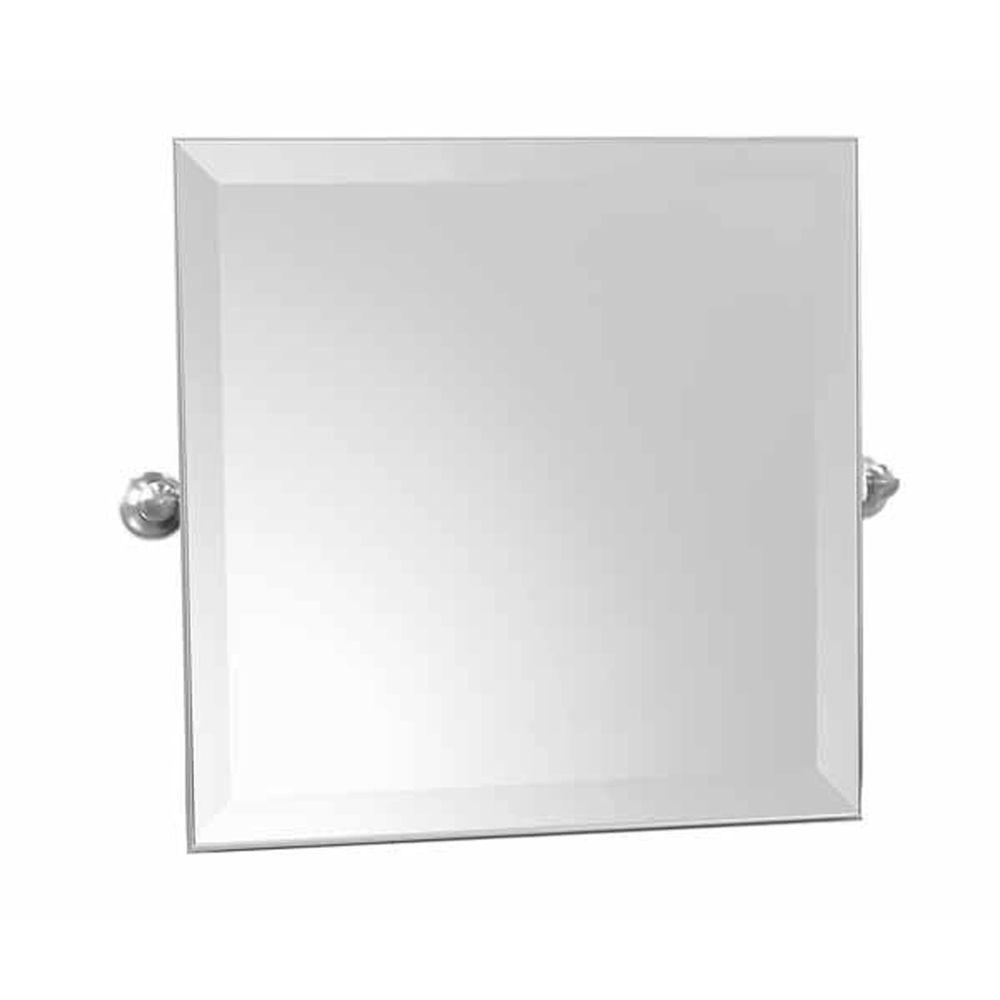 Ginger Columnar 21 in. x 24 in. Small Mirror in Polished Chrome-DISCONTINUED
