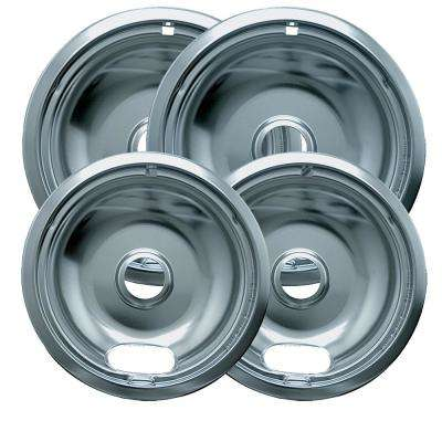 6 in. 2-Small and 8 in. 2-Large Drip Bowl - Economy (4-Pack)