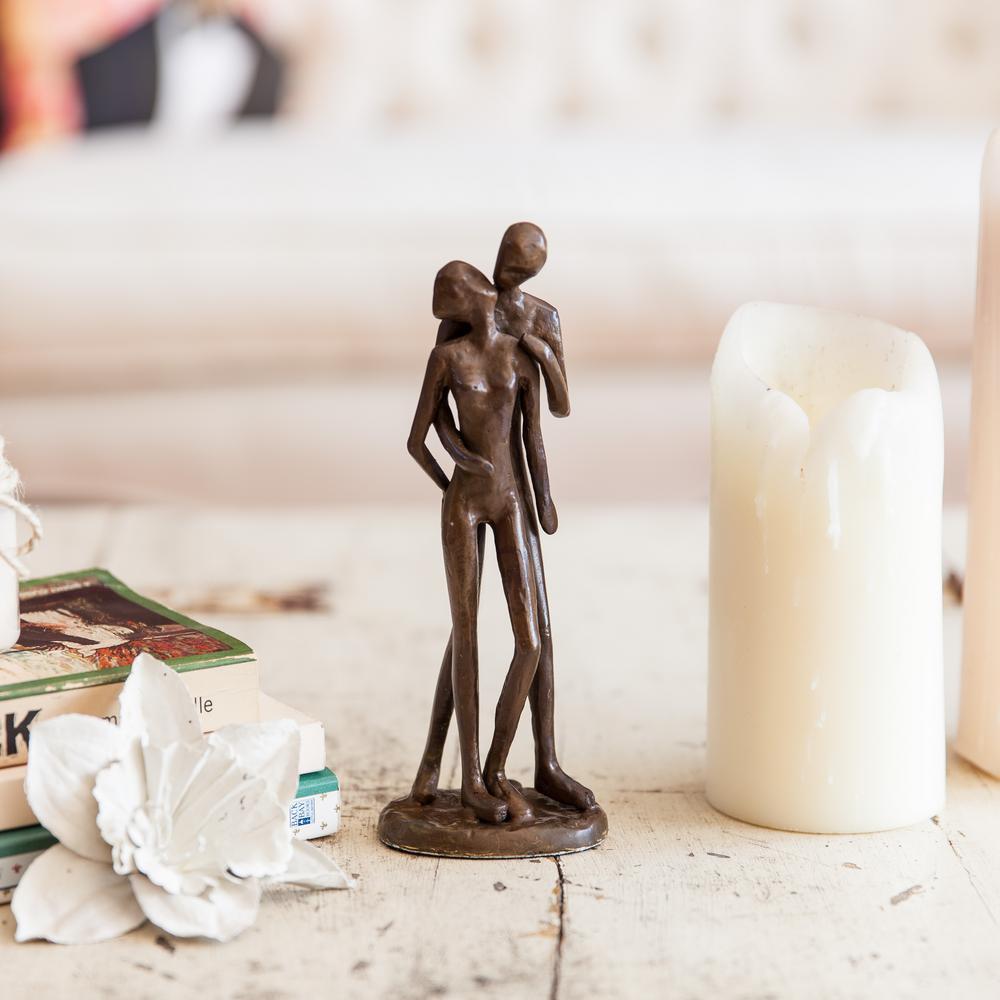 Couple Kissing Bronze Sculpture