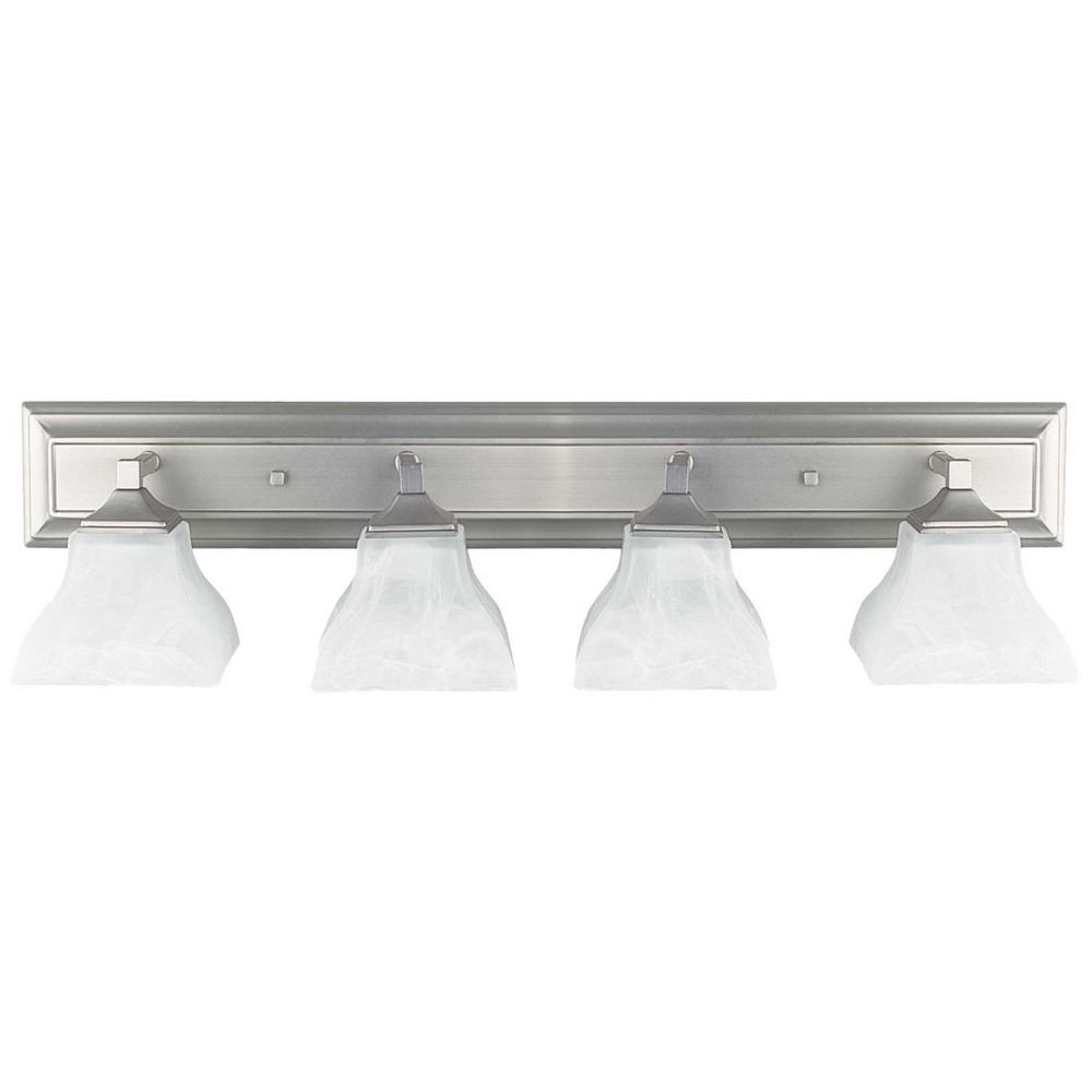 Tech Lighting Home Depot: Radionic Hi Tech Willow 4-Light Satin Nickel Bath Light-L