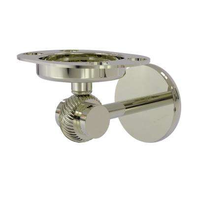 Satellite Orbit Two Collection Tumbler and Toothbrush Holder with Twisted Accents in Polished Nickel