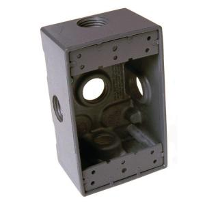 Bell 1 Gang 5 Outlets 1 2 In Threaded Weatherproof Box