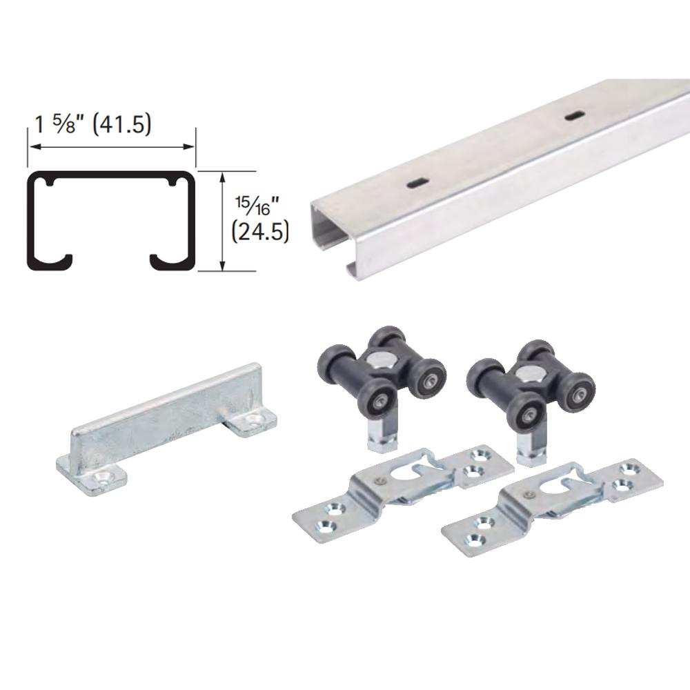 72 in. Grant 150E Single Economy Door Hardware and Track