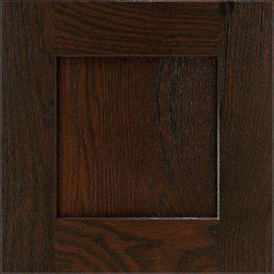 14.5x14.5 in. Eden Cabinet Door Sample in Chocolate