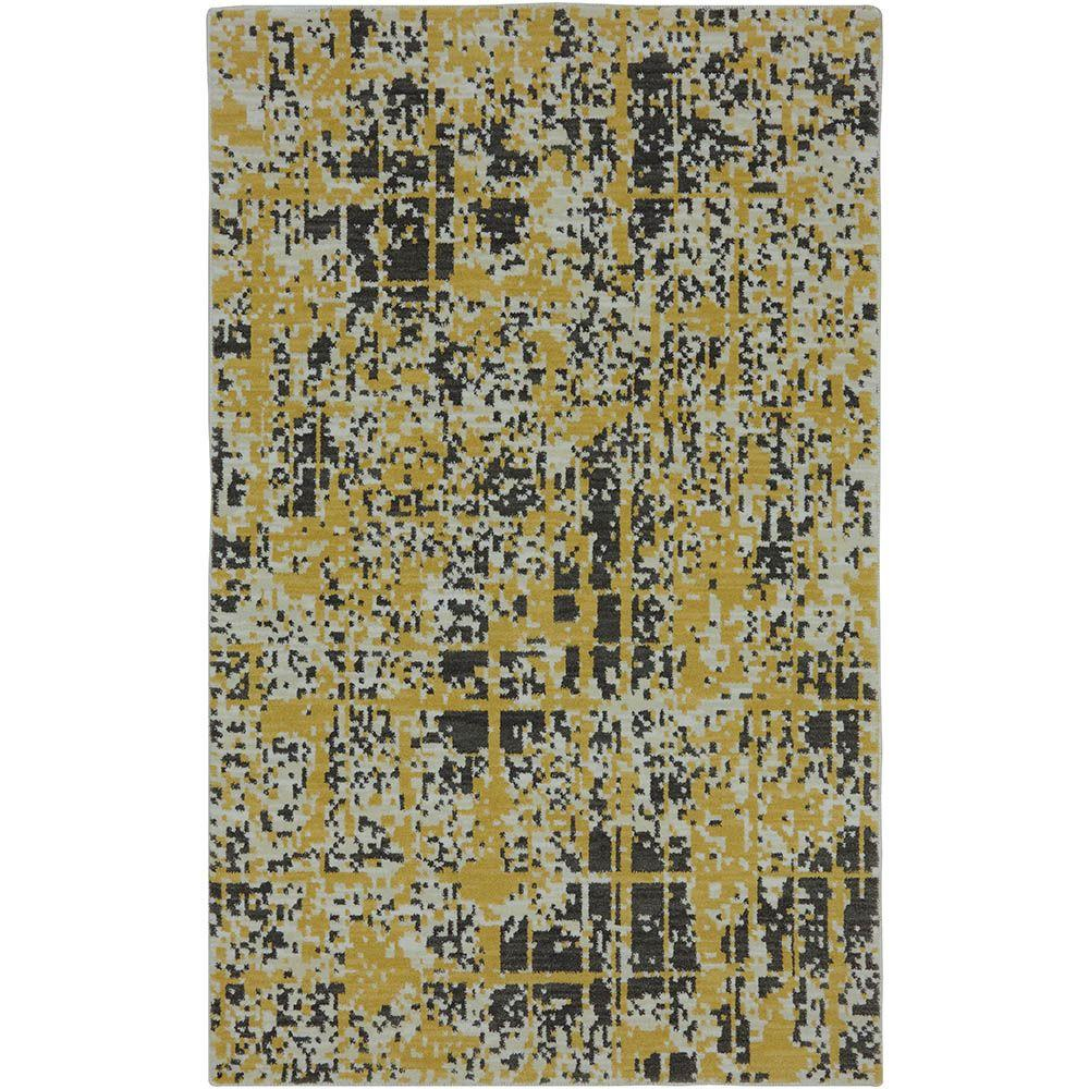 Karastan Pixelated Creme Brulee 2 ft. 11 in. x 4 ft. 8 in. Accent Rug