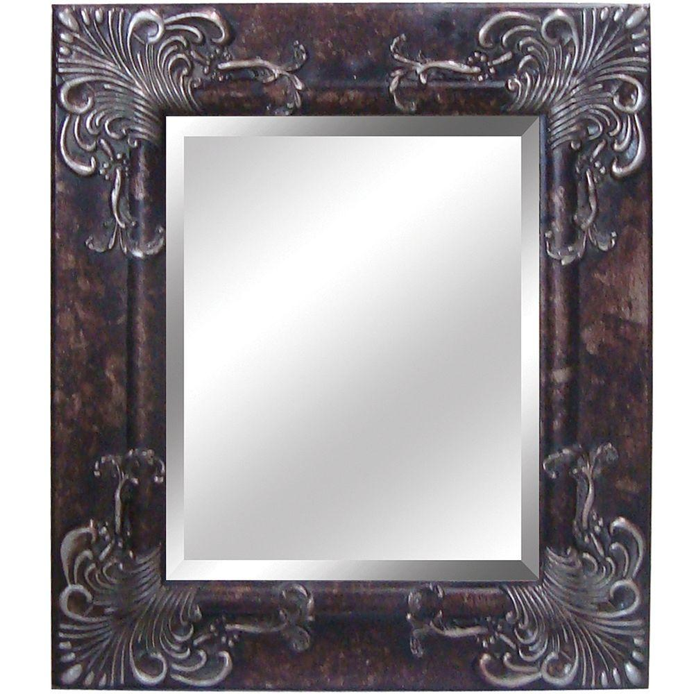 Yosemite Home Decor 24.5 in. x 28.5 in. Rectangular Decorative Framed Mirror