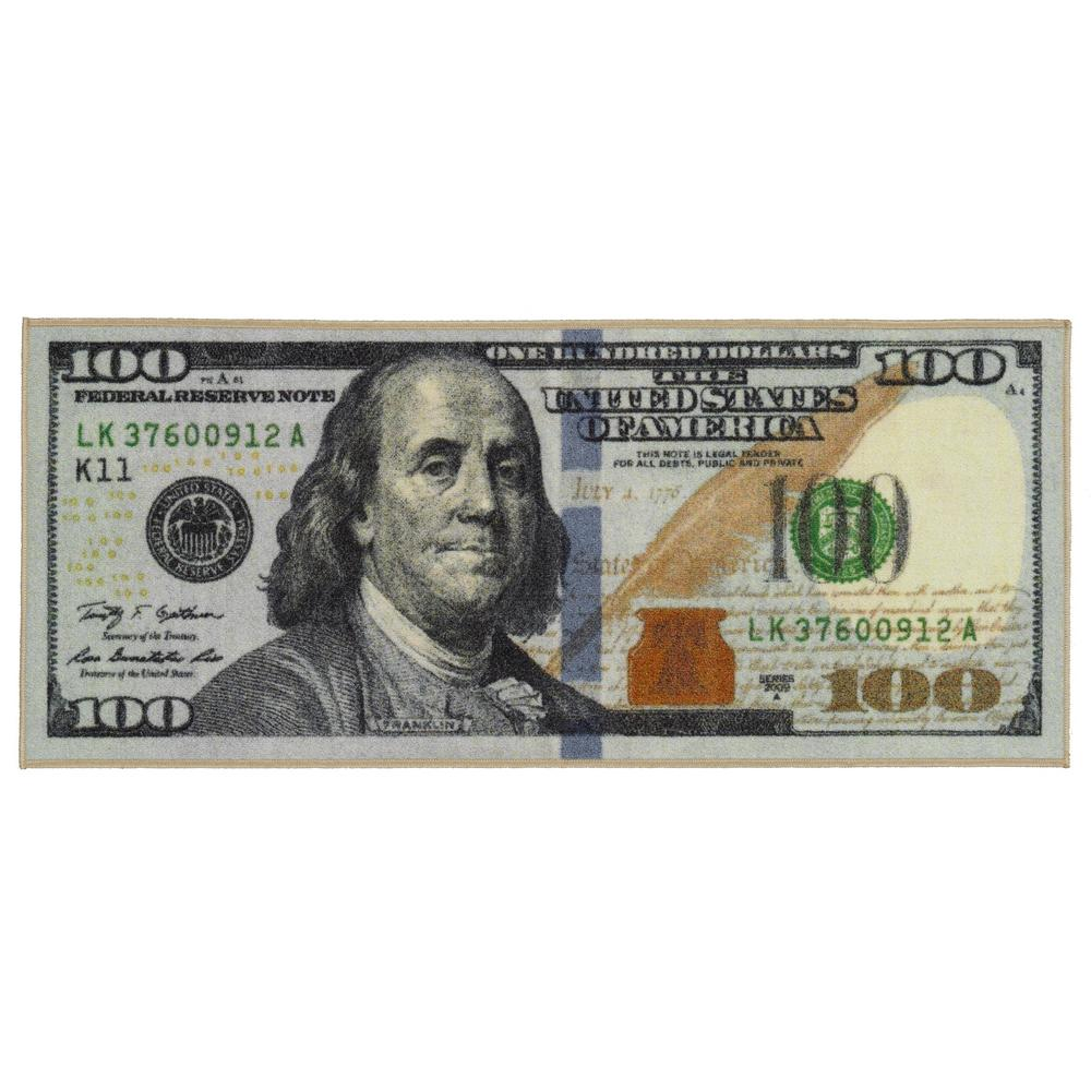 Siesta Kitchen 100 Dollar Bill Design Print 2 Ft X 4 Ft