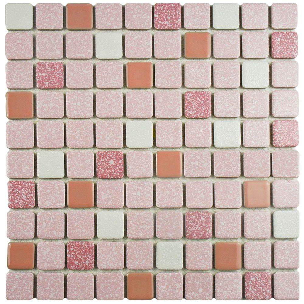 Pink - Mosaic Tile - Tile - The Home Depot