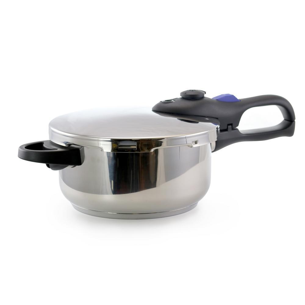 4 Qt. Silver Stove Top Pressure Cooker