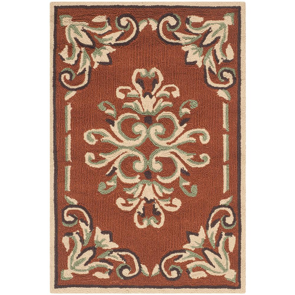 Easy Care Rust/Multi 3 ft. x 5 ft. Area Rug