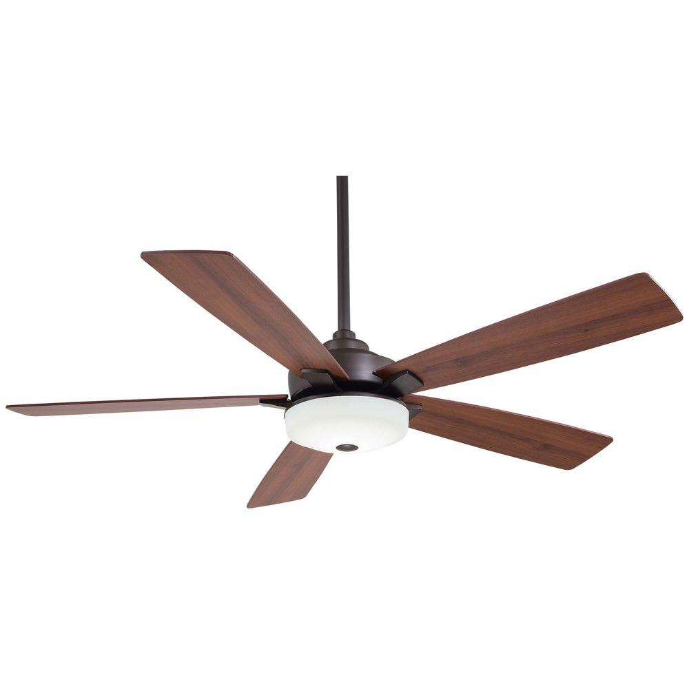 Cameron 54 in. LED Indoor Oil Rubbed Bronze Ceiling Fan with