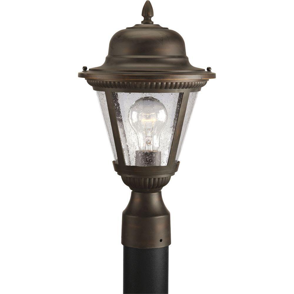 Westport Collection 1-Light Antique Bronze Outdoor Post Lantern