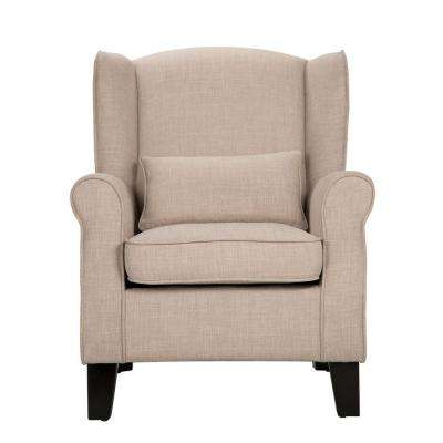 Pradera Oatmeal Linen Wing Back Arm Chair