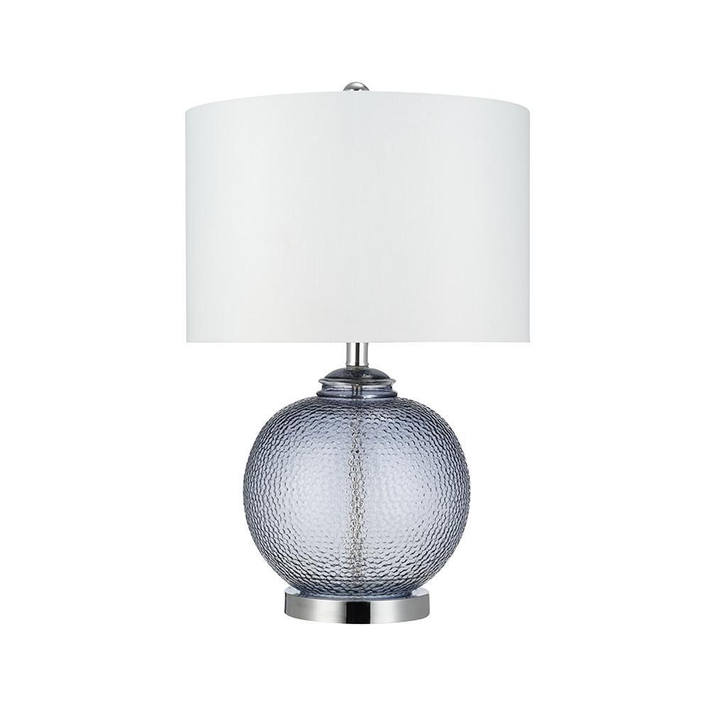 23.5 in. Smoke Grey Glass Table Lamp