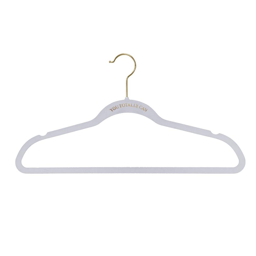 Macbeth Collection White You Totally Can Slim Velvet Hangers (21-Pack)