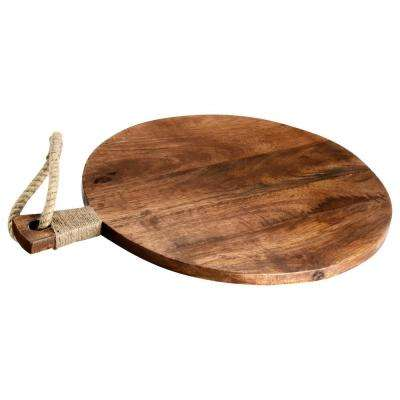 Round Wooden Cutting Board with Tied Rope
