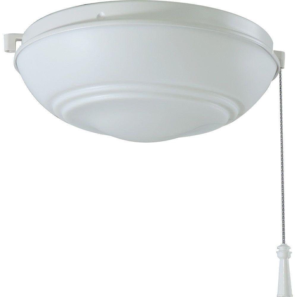 Universal Ceiling Fan LED Light Kit Matte White with Shatter Resistant Bowl
