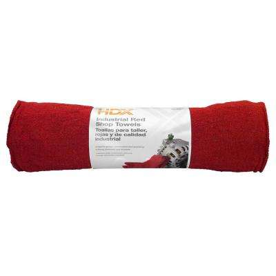 12 in. x 14 in. Red Shop Towels (24-Pack)