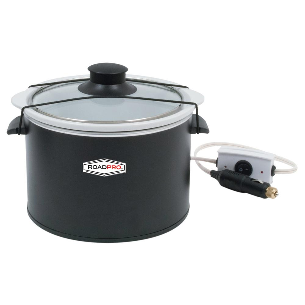 Slow Cooker Black NOS RoadPro RPSL-350 12-Volt 1.5 Qt