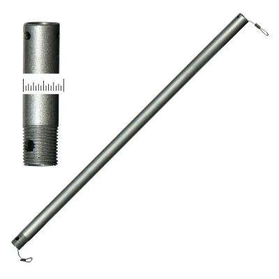 24 in. Brushed Aluminum Oscillator-Type Extension Downrod