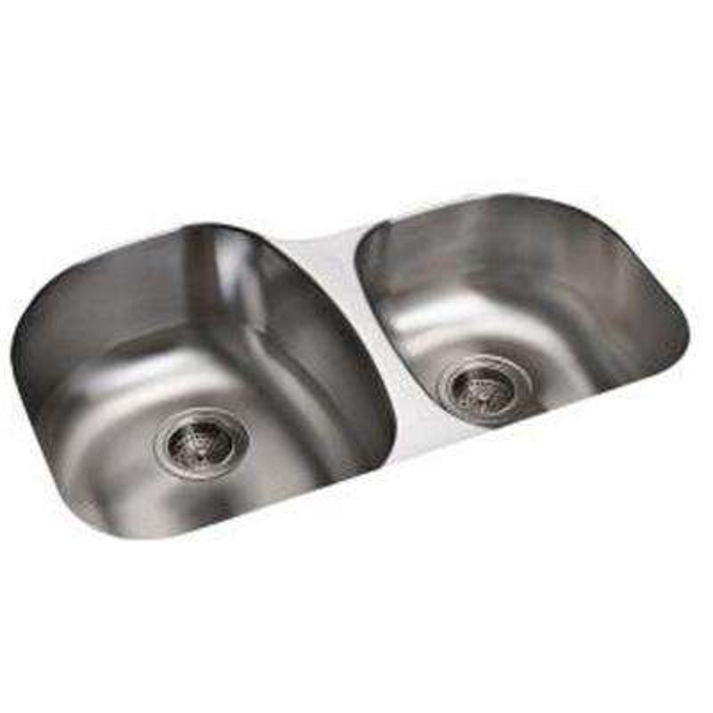 Cinch Undermount Stainless Steel 32 in. Double Bowl Kitchen Sink