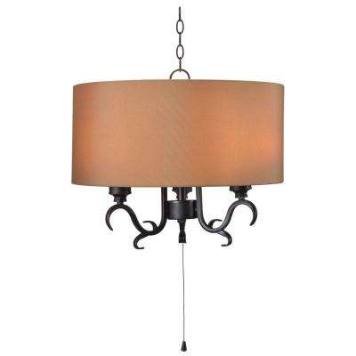 Clairmont 3-Light Oil Rubbed Bronze Hanging Outdoor Pendant