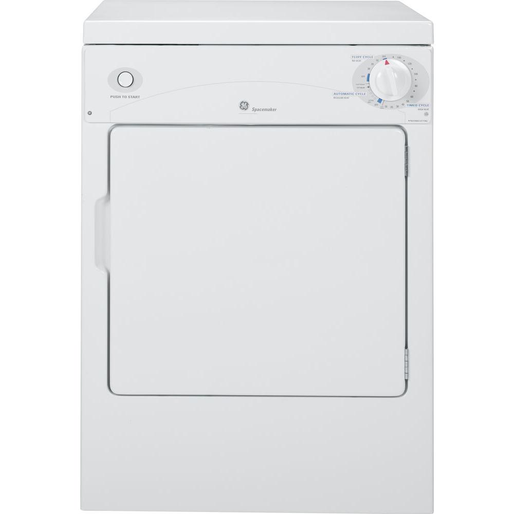 GE 3.6 cu. ft. 120-Volt White Stackable Electric Vented Portable ...