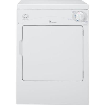 3.6 cu. ft. 120-Volt White Stackable Electric Vented Portable Compact Dryer