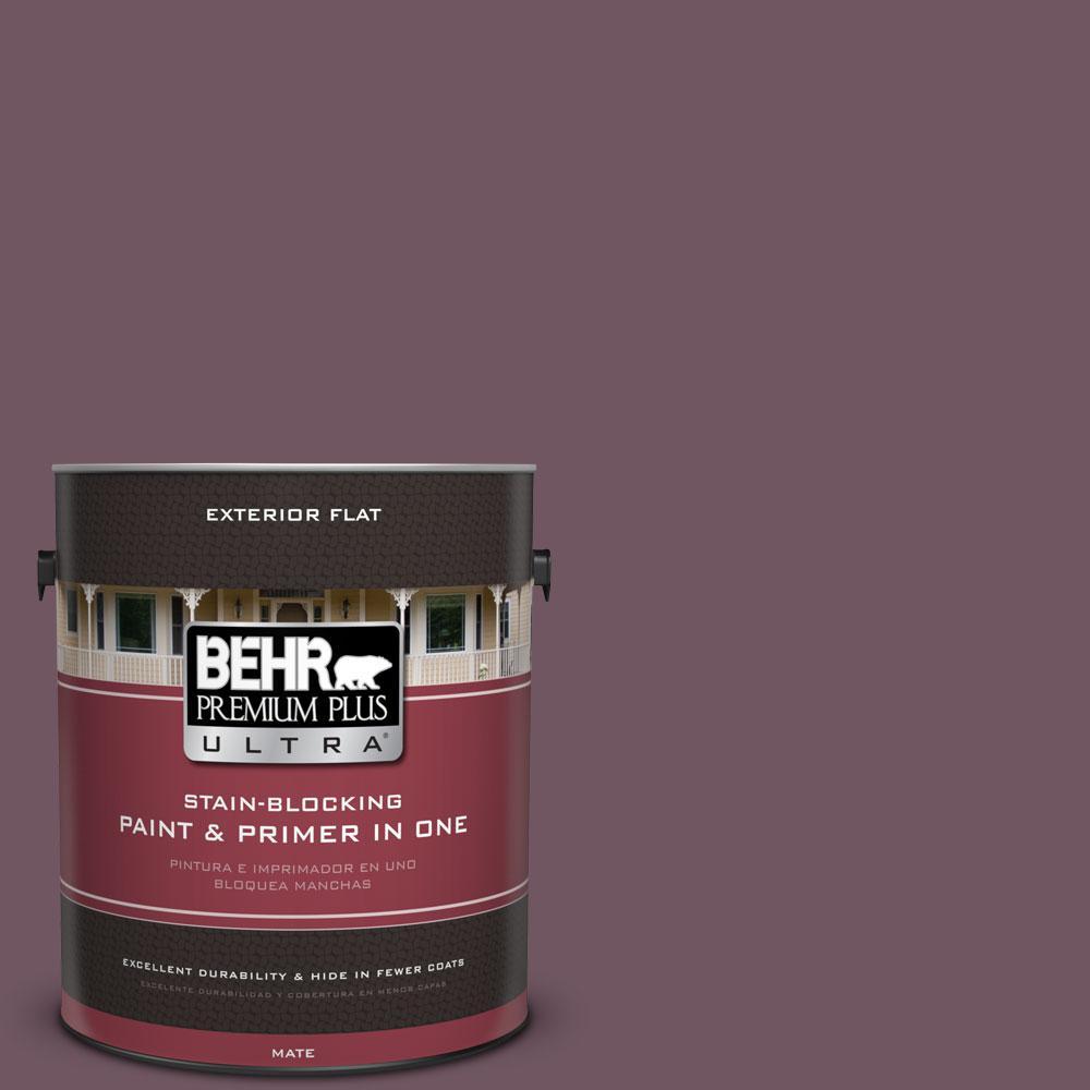 BEHR Premium Plus Ultra 1-gal. #S110-7 Exotic Eggplant Flat Exterior Paint