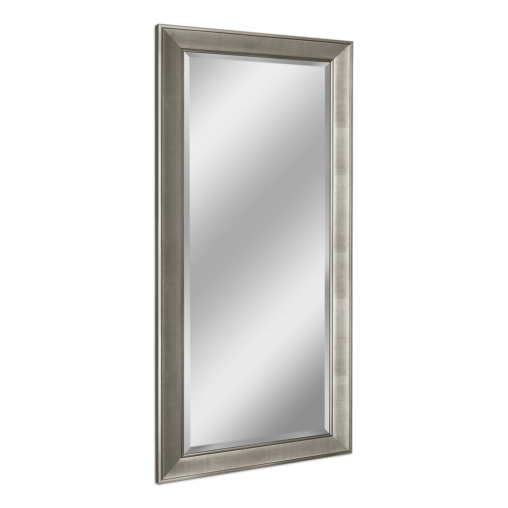 Pave 31 in. W x 65 in. H Framed Rectangular Beveled Edge Bathroom Vanity Mirror in Brush Nickel