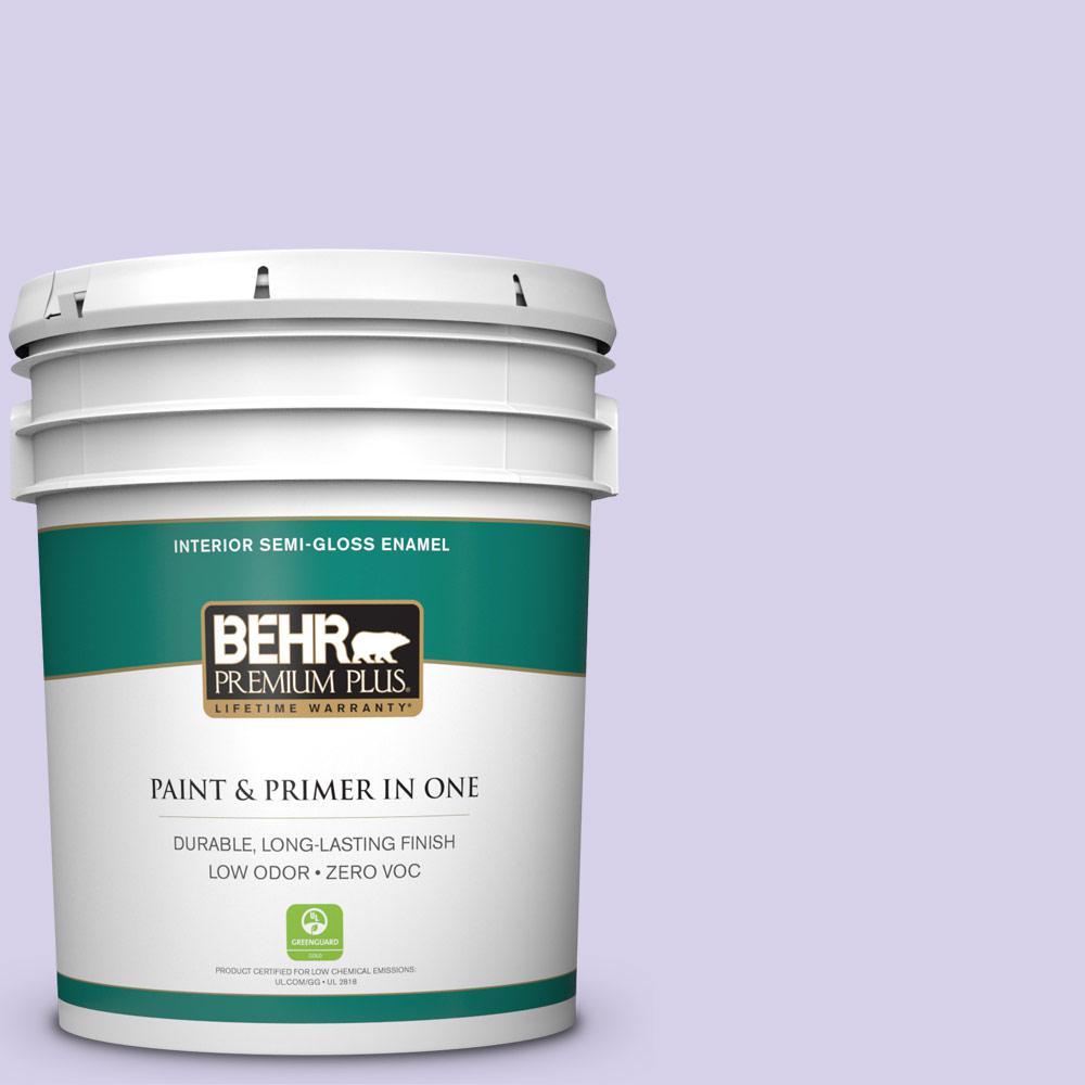 BEHR Premium Plus 5-gal. #P560-2 Air Castle Semi-Gloss Enamel Interior Paint