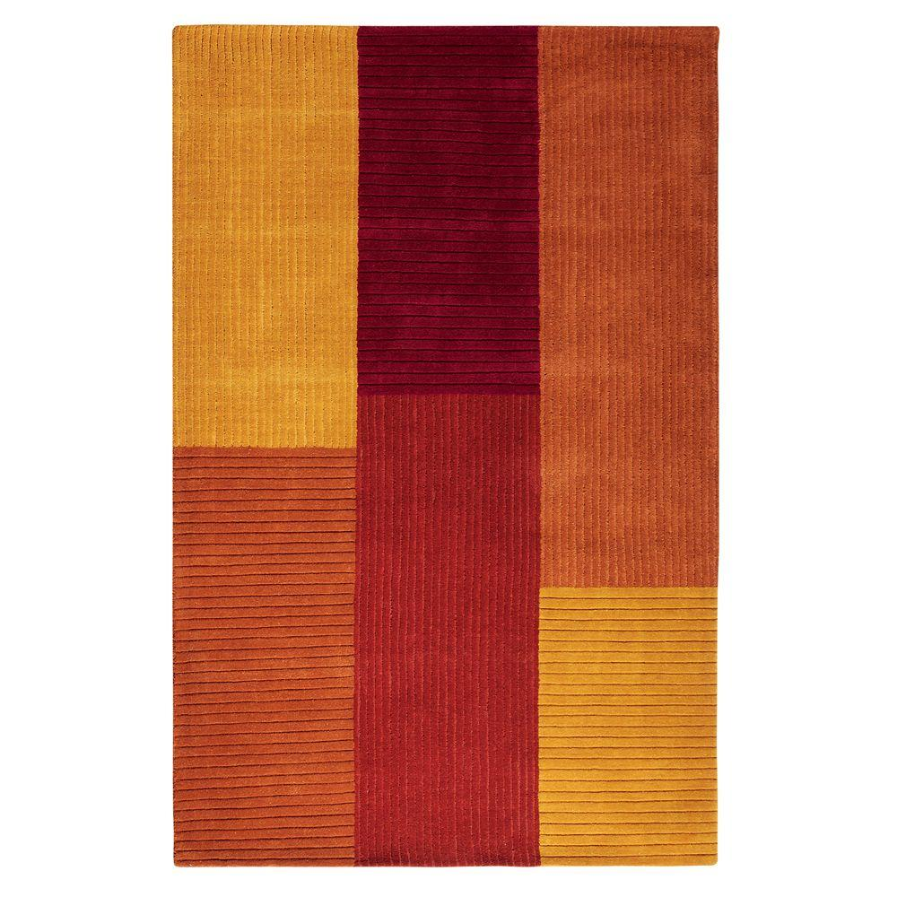 Home Decorators Collection Crete Terracotta 9 ft. 9 in. x 13 ft. 9 in. Area Rug