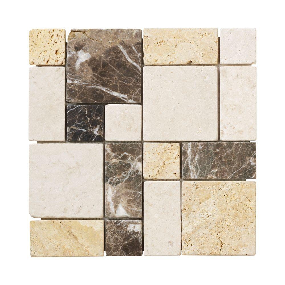 Jeffrey Court Creama Emperador 12 In. X 12 In. X 10 Mm