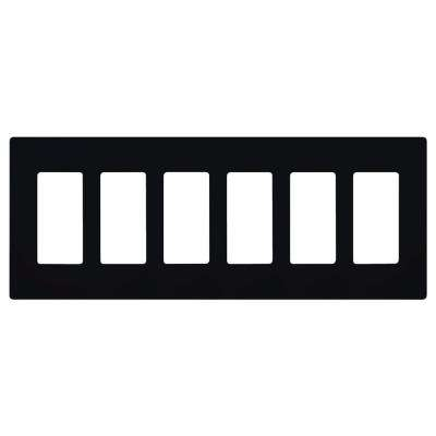 Claro 6 Gang Decorator Wallplate, Black
