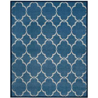 Floral - Blue - Outdoor Rugs - Rugs - The Home Depot