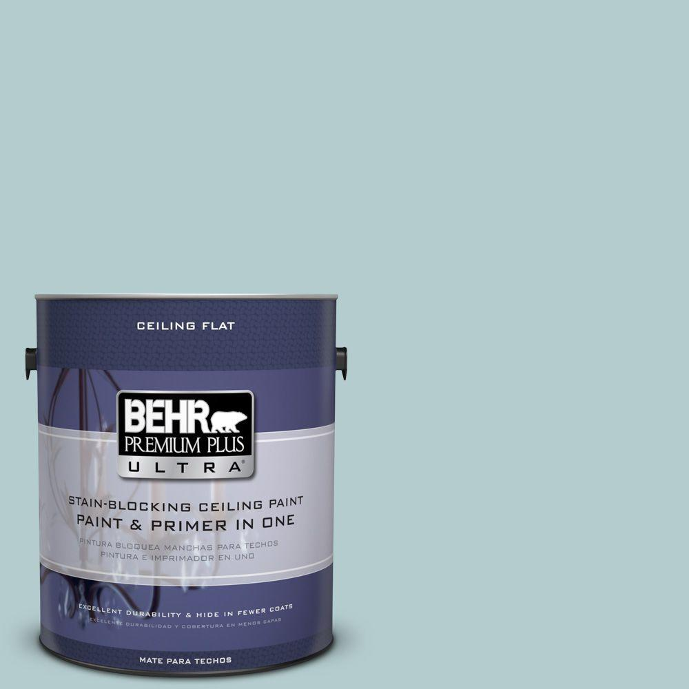 BEHR Premium Plus Ultra 1-Gal. No.UL220-8 Ceiling Tinted to Clear Pond Interior Paint