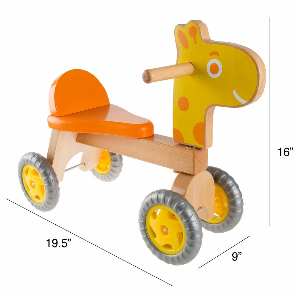 happy trails wooden ride-on giraffe hw4000020 - the home depot