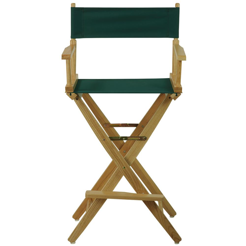 Beau American Trails Extra Wide Natural Frame/Hunter Green Canvas American  Hardwood 30 In.
