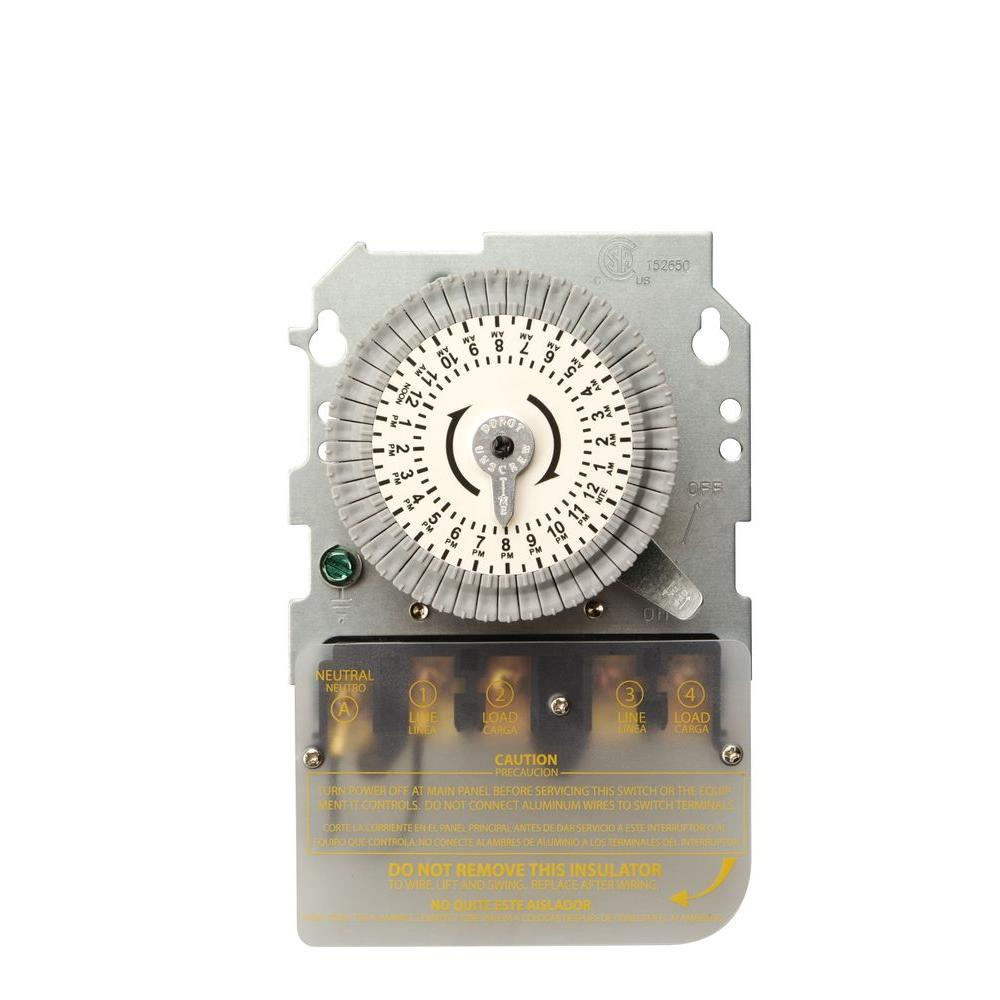 Woods 40 Amp 208-277-Volt DPST 24-Hour Mechanical Time Switch ...
