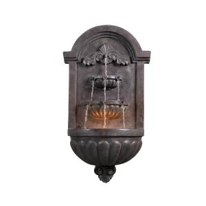 35 inch San Marco Plum Bronze Finish Wall Fountain by