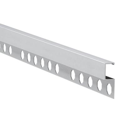 Novolistel 4 Matt Silver 1/2 in. x 98-1/2 in. Aluminum Tile Edging Trim