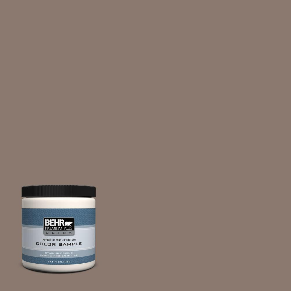Behr Premium Plus Ultra 8 Oz T18 07 Road Less Travelled Satin Enamel Interior Exterior Paint