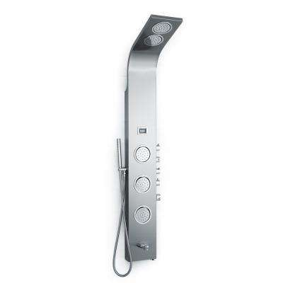 Rainsky 59 in. 6-Jetted Full Body Shower Panel System with Double Rain Showerheads in Stainless Steel