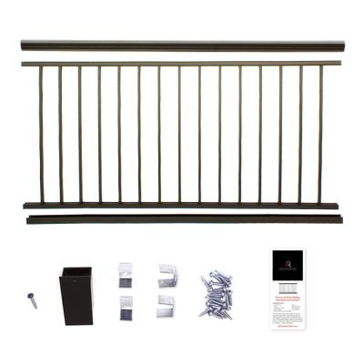 36 in. x 6 ft. Bronze Powder Coated Aluminum Preassembled Deck Railing